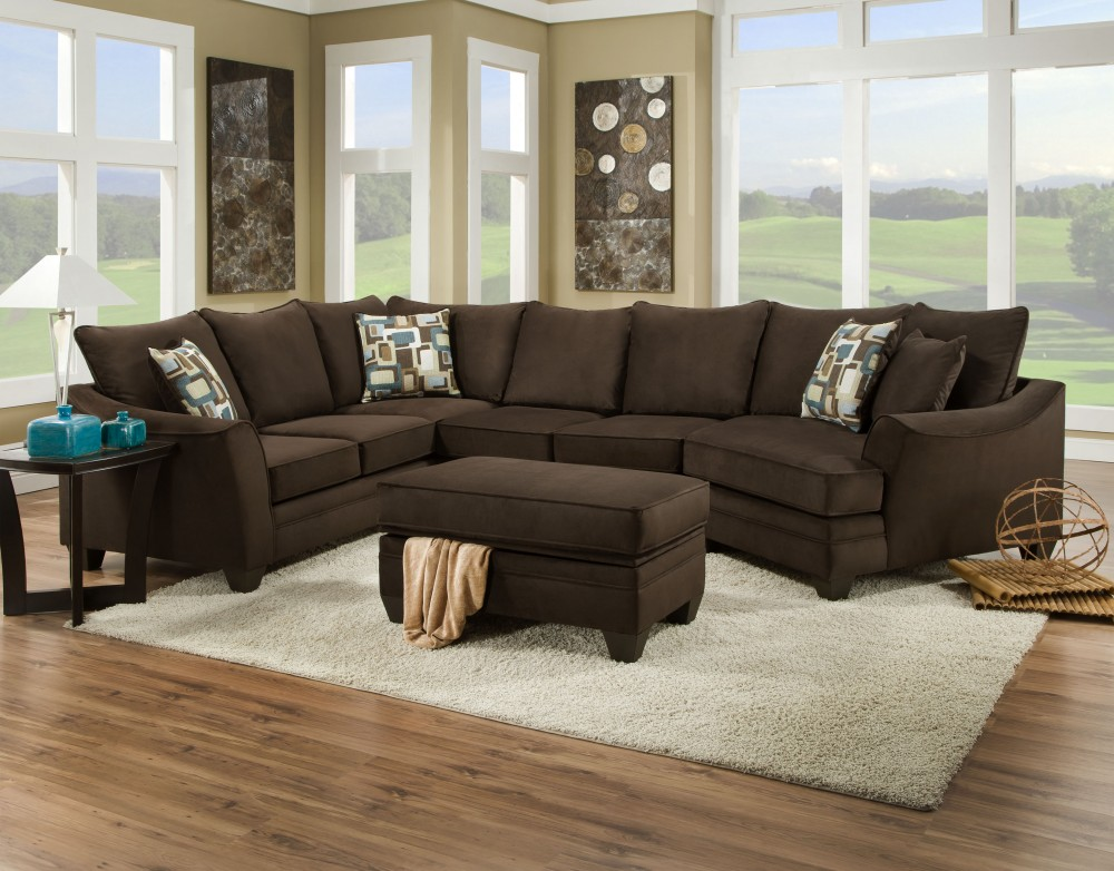 florence collection espresso sectional