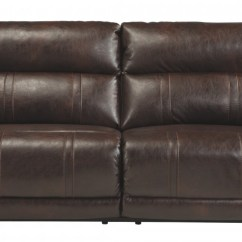 Durablend Sofa Red Leather Set Barrettsville Chocolate 2 Seat Reclining W Power