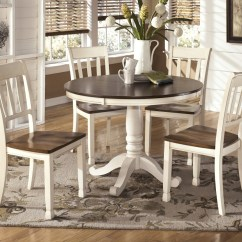 Dinning Room Table And Chairs How Much Does A Chair Cost Whitesburg Round Dining 4 Side D583 02 15b 15t Groups Railway Freight Furniture