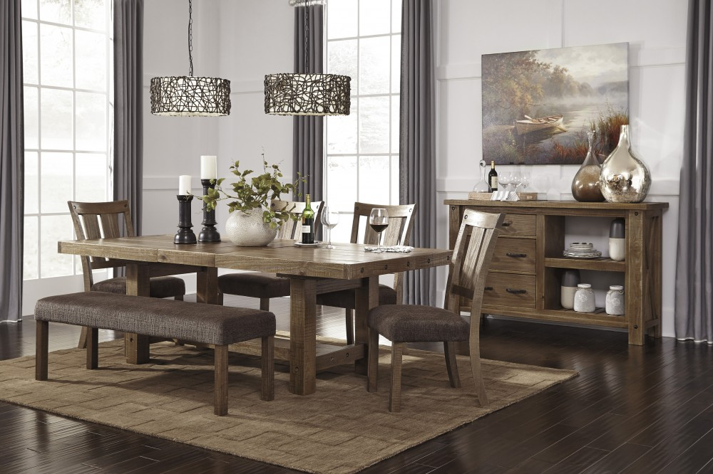 gray dining chair nursery and ottoman tamilo brown rect room ext table 4 uph side chairs