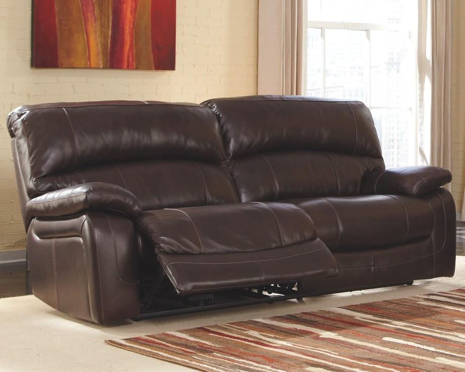 reclining sofa leather brown remote control holder for damacio dark 2 seat