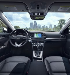 the all new 2019 hyundai elantrainterior view of the drivers and passengers cabin of the 2019 [ 1125 x 1125 Pixel ]