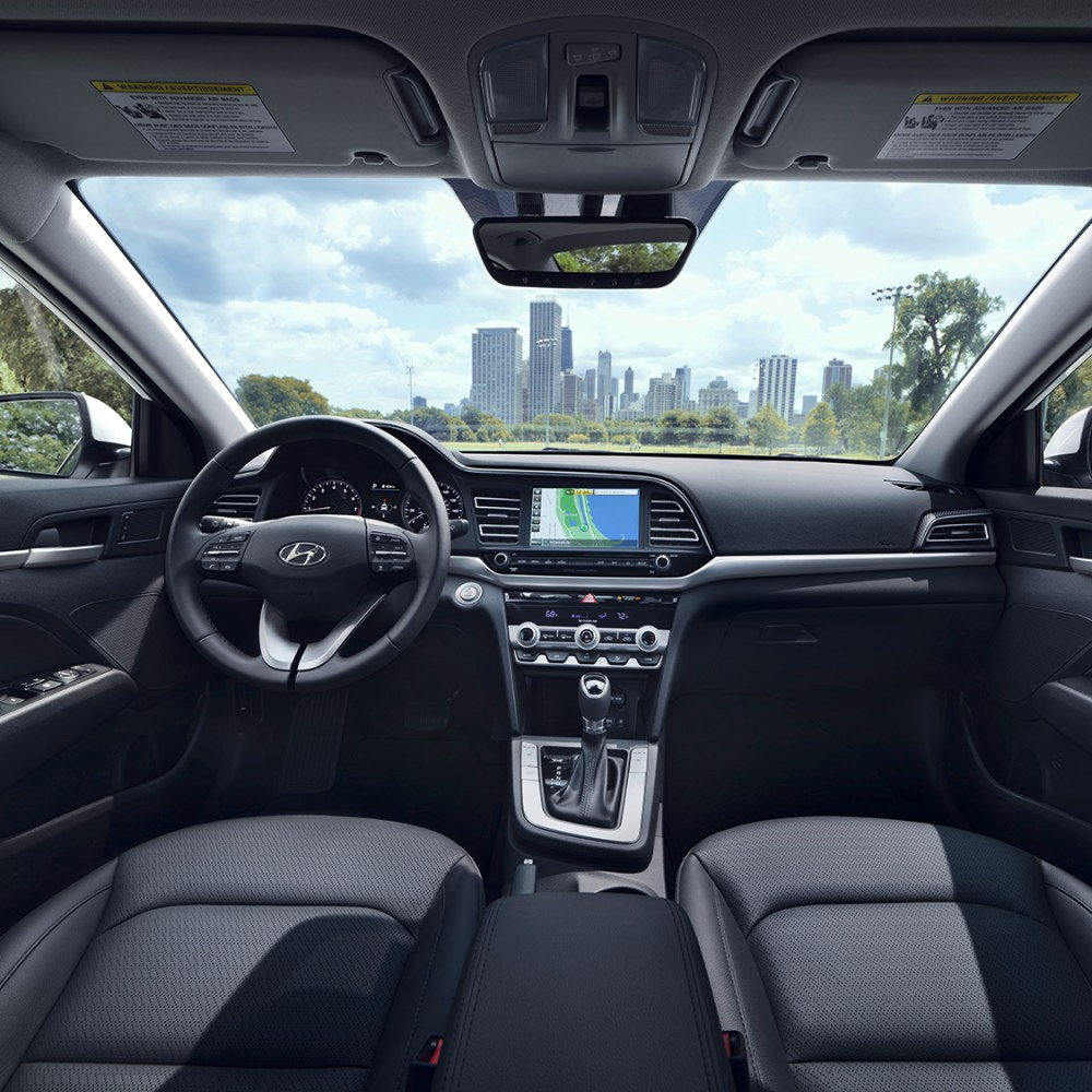 medium resolution of the all new 2019 hyundai elantrainterior view of the drivers and passengers cabin of the 2019