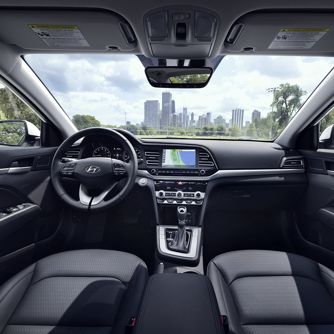 hight resolution of the all new 2019 hyundai elantrainterior view of the drivers and passengers cabin of the 2019
