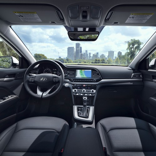 small resolution of the all new 2019 hyundai elantrainterior view of the drivers and passengers cabin of the 2019