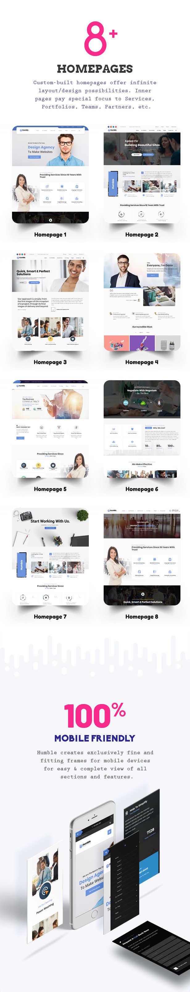 Humble. Responsive Multi-Purpose Drag n Drop Theme - 2