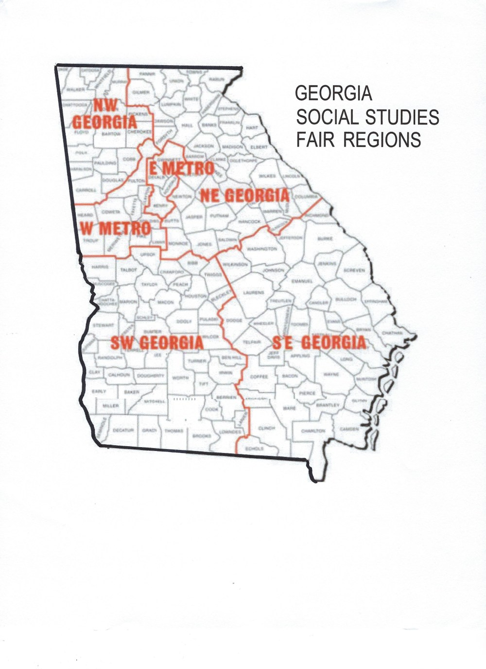 medium resolution of gcss social studies fair region map map