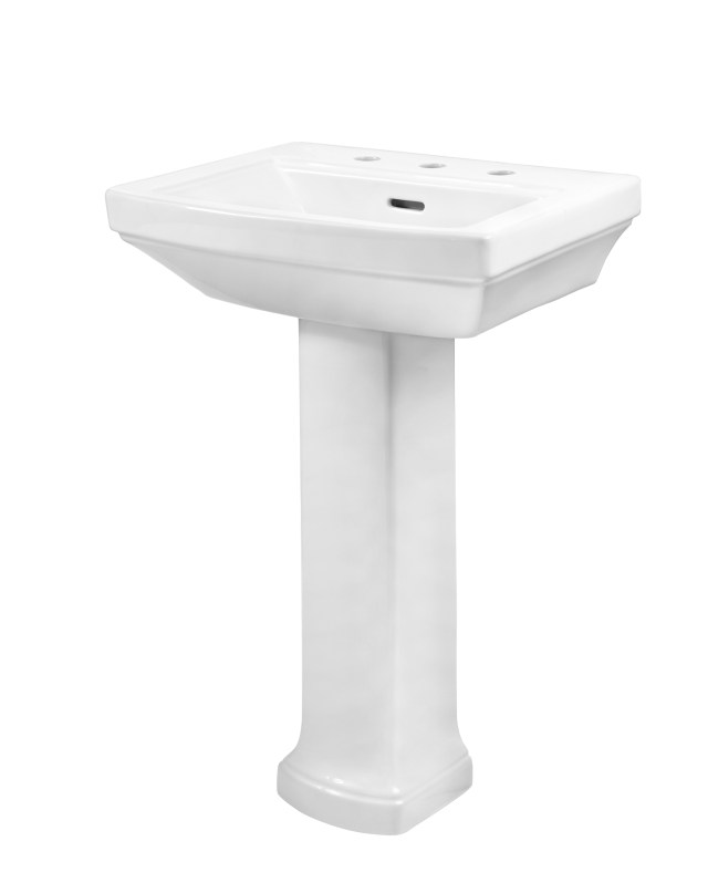 "Hinsdale™ 8"" Centers Petite Pedestal Bathroom Sink"