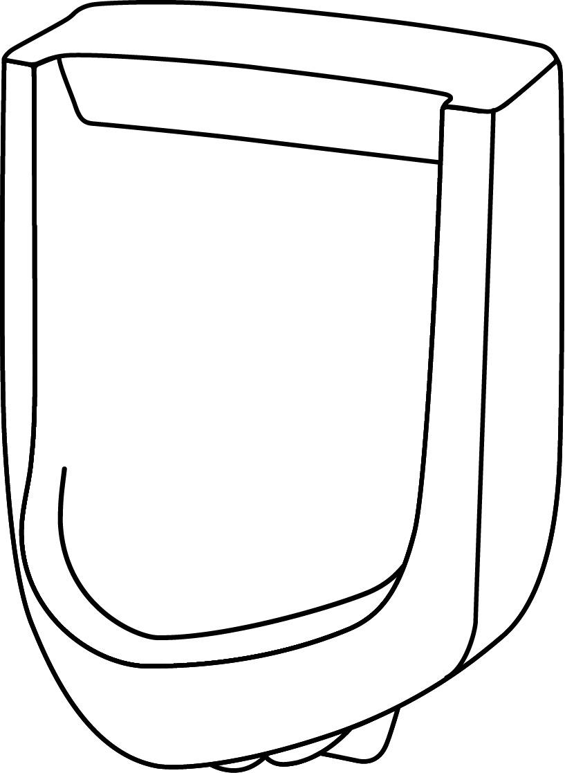 DISCONTINUED Hamilton 1.0gpf Urinal Siphon Jet Back Spud