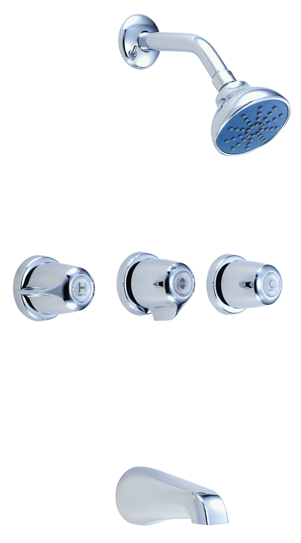 hight resolution of gerber classics three handle threaded escutcheon tub shower fitting with ips sweat connections threaded spout 1 75gpm gerber plumbing