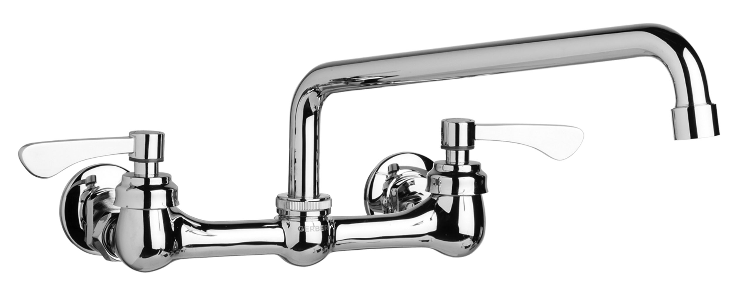 gerber kitchen faucet back splash for commercial two handle wall mount