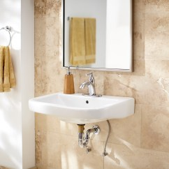 Kitchen Faucets Pull Down 2 Seat Table Wicker Park™ Single Hole Wall Hung Bathroom Sink | Gerber ...