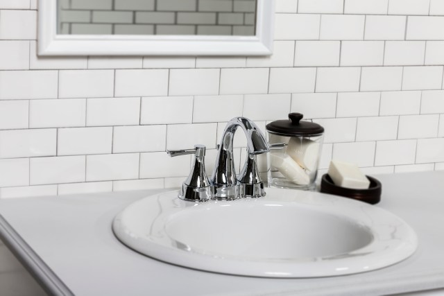"Maxwell Oval 4"" Centers Self Rimming Bathroom Sink"