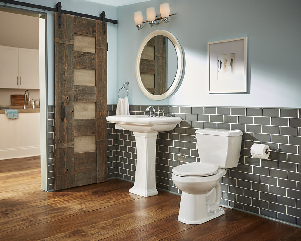 Logan Square 4 Centers Petite Pedestal Bathroom Sink