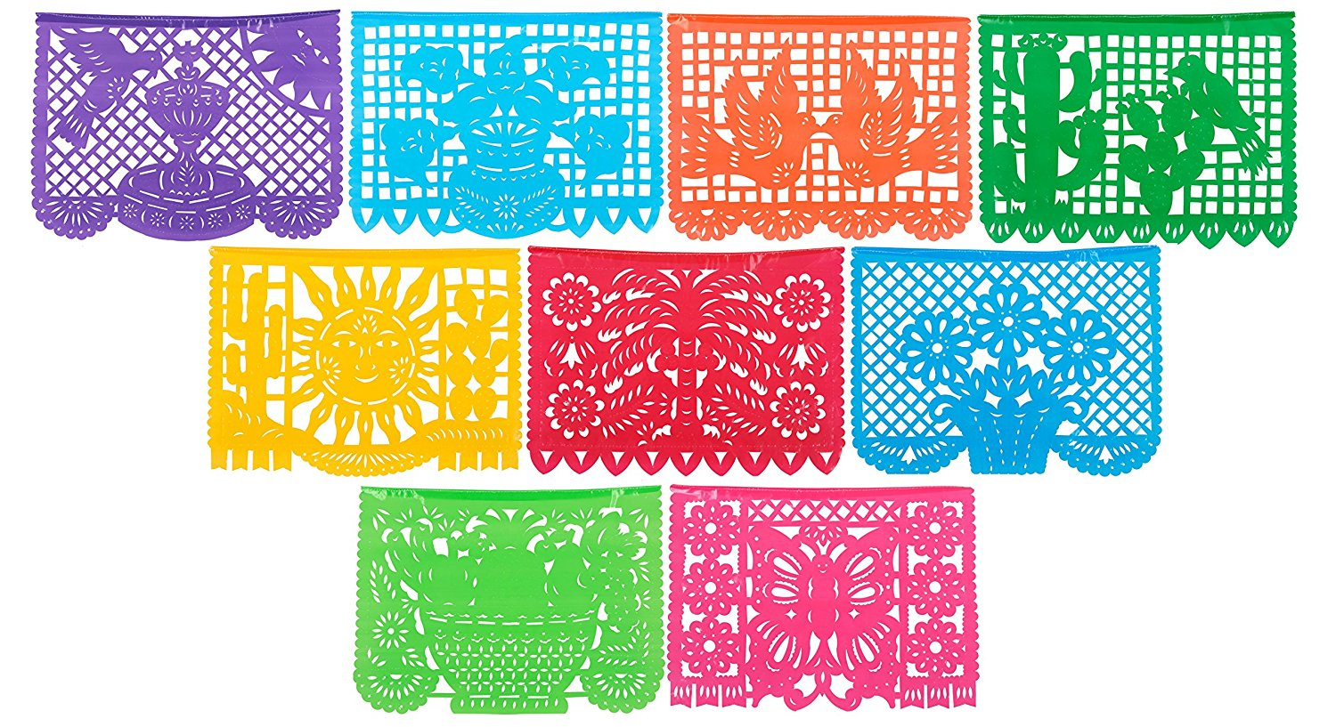 Mexican Style Multi Colored Panels