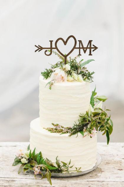 Wedding Arrow Cake Topper
