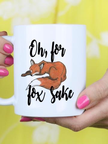 For fox sake mug gift