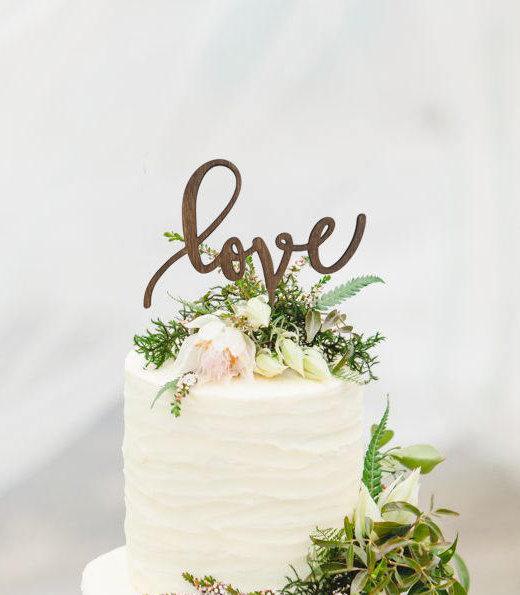 Wedding Cake Topper LOVE Wooden Cake Topper GiftEve