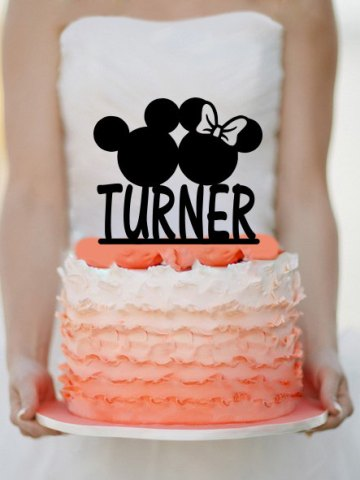 Personalized Disney Cake Topper