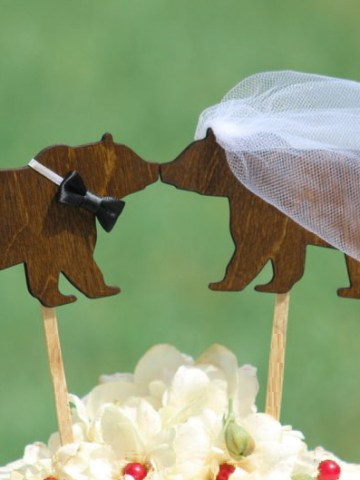 Brown Bear Cake Topper