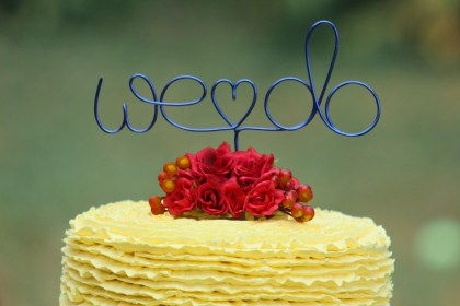 we do wedding wire cake topper