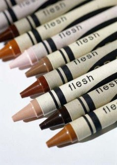 crayons of flesh colors