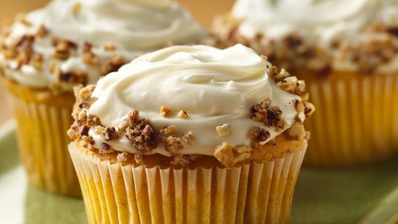 Spiced Pumpkin Cupcakes Recipe From Betty Crocker