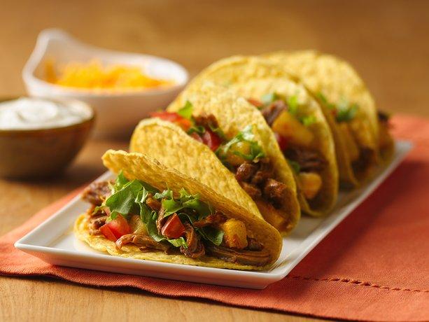 Slow Cooker Pineapple-Pork Tacos