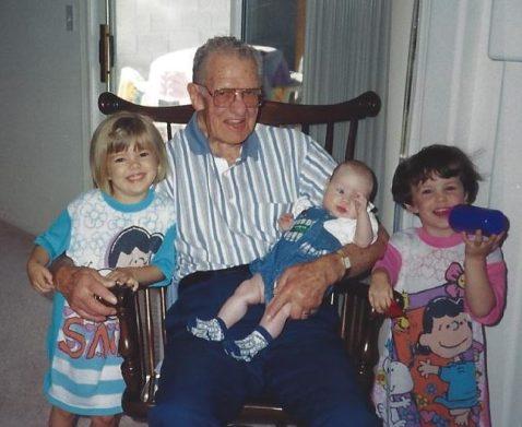 Grandpa with my three big girls