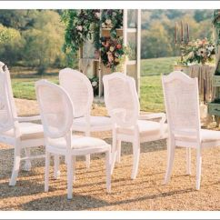 Elite Chair Covers Inc Twin Sleep White Distressed Cane Back Chairs Rentals Online - $12/day
