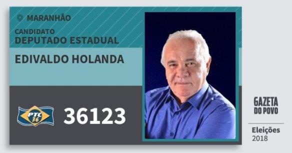 Resultado de imagem para EDIVALDO HOLANDA do PTC