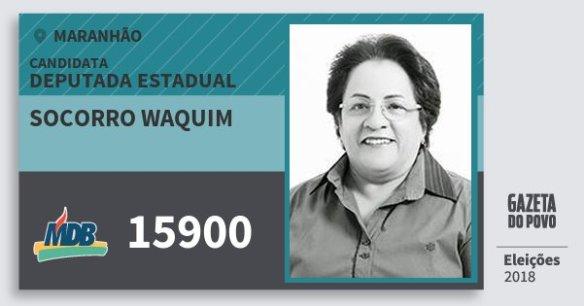 Resultado de imagem para SOCORRO WAQUIM doMDB