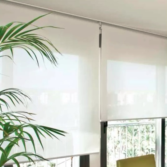 Cortinas roller Screen 5 160cm x 200cm Blanco  In a roll