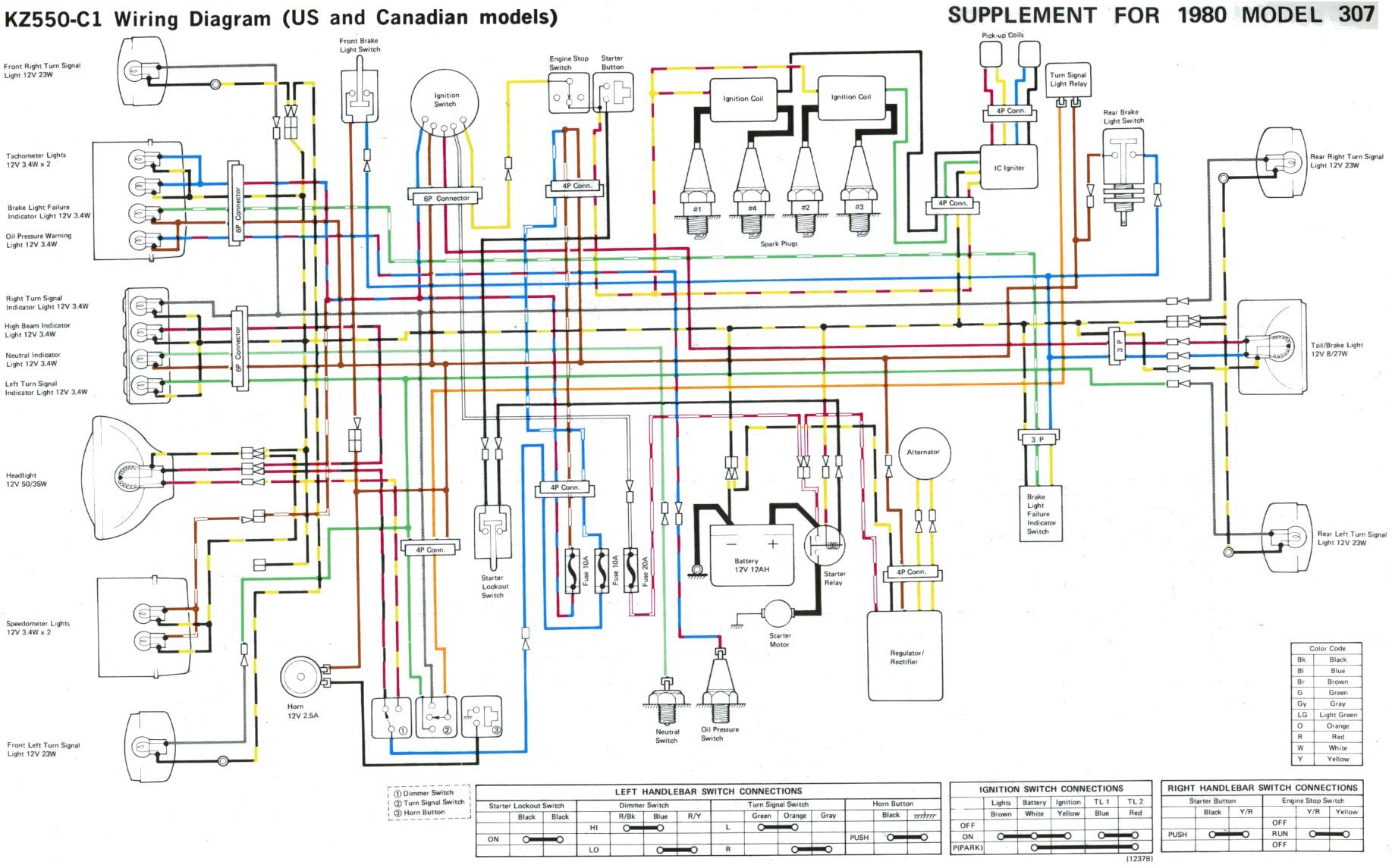 Some Kz 400 500 550 Wire Diagrams