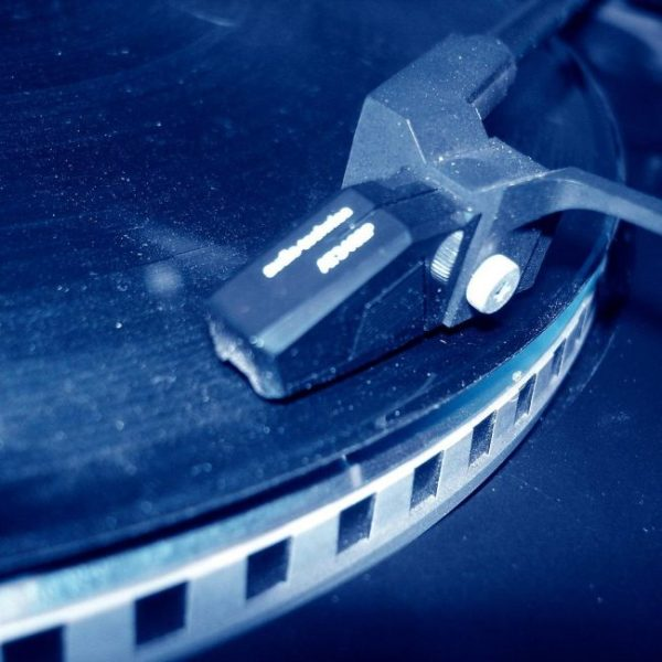 Phonograph on Turntable
