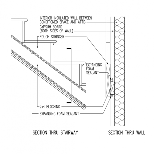 Air Sealing for Interior Walls between Conditioned and