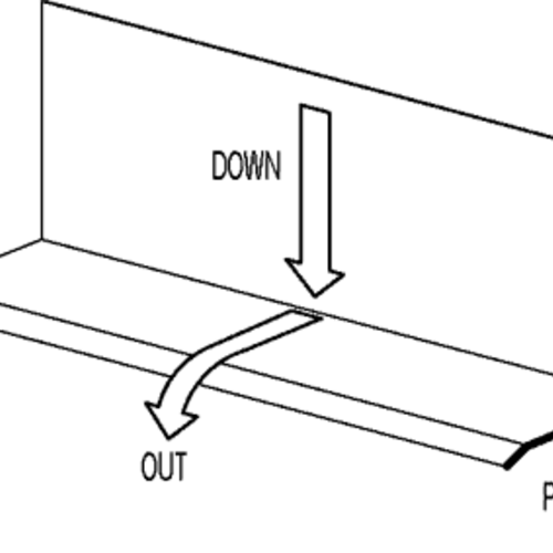 Conceptual flashing showing positive slope