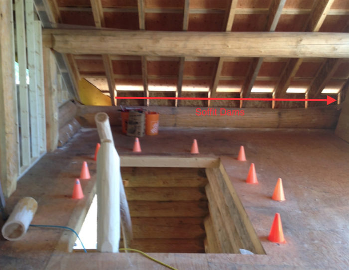 Rafter Insulation And Soffit Dam Installation