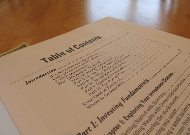 Use a Table of Contents to improve your publishing strategy