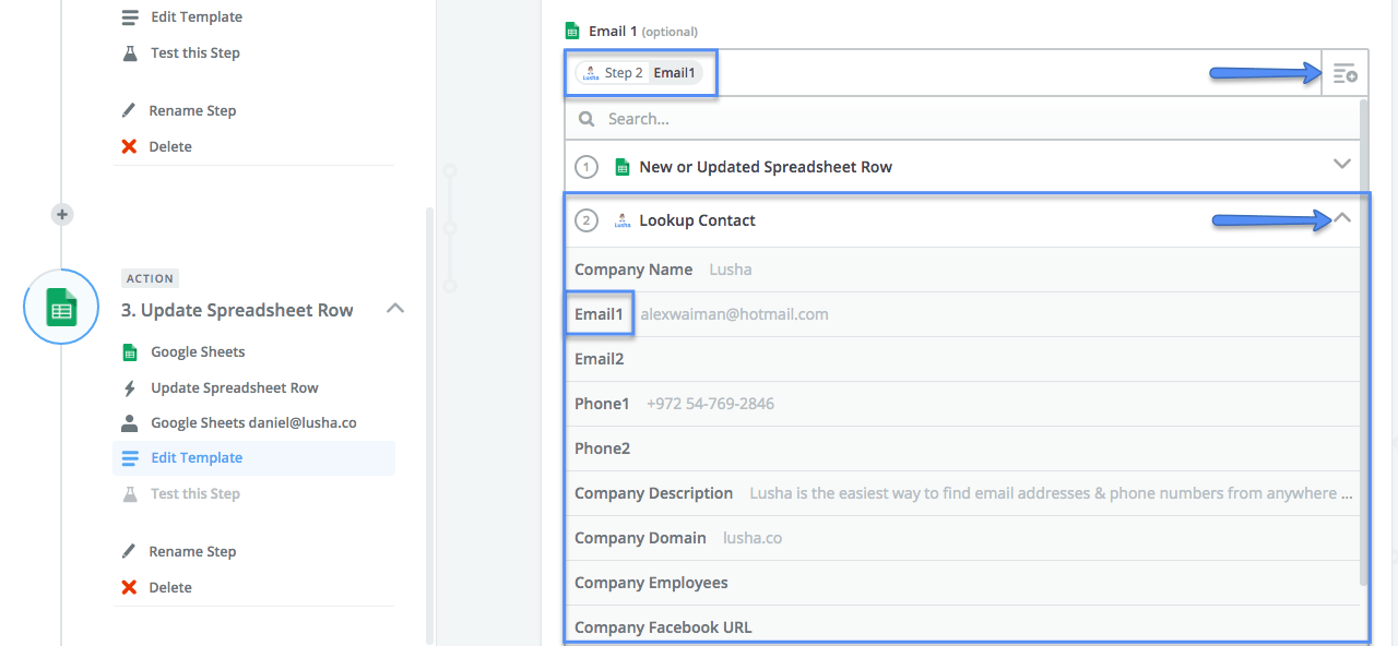 Step by step guide to integrate Google sheets and Lusha. | lushaapp
