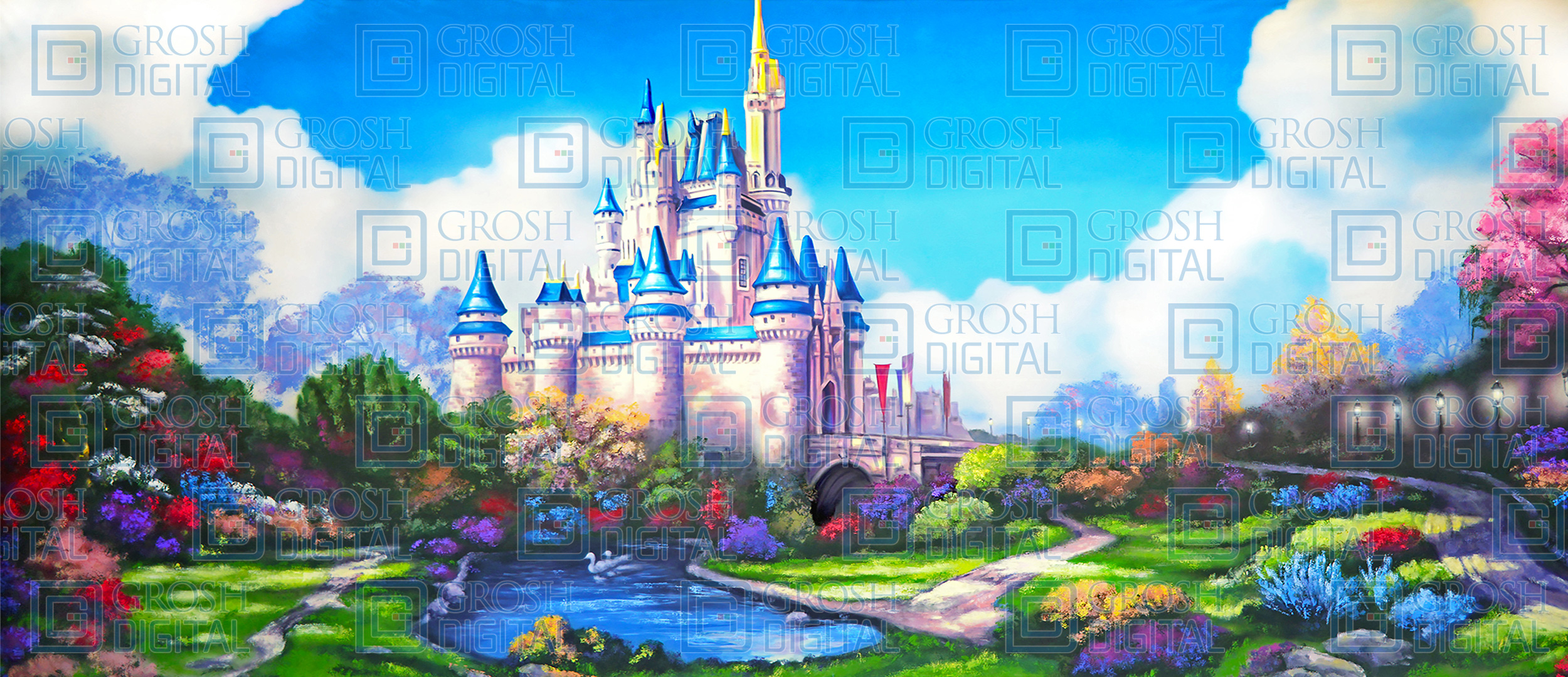 Alice And Wonderland Quote Wallpapers Fairytale Castle Projected Backdrops Grosh Digital