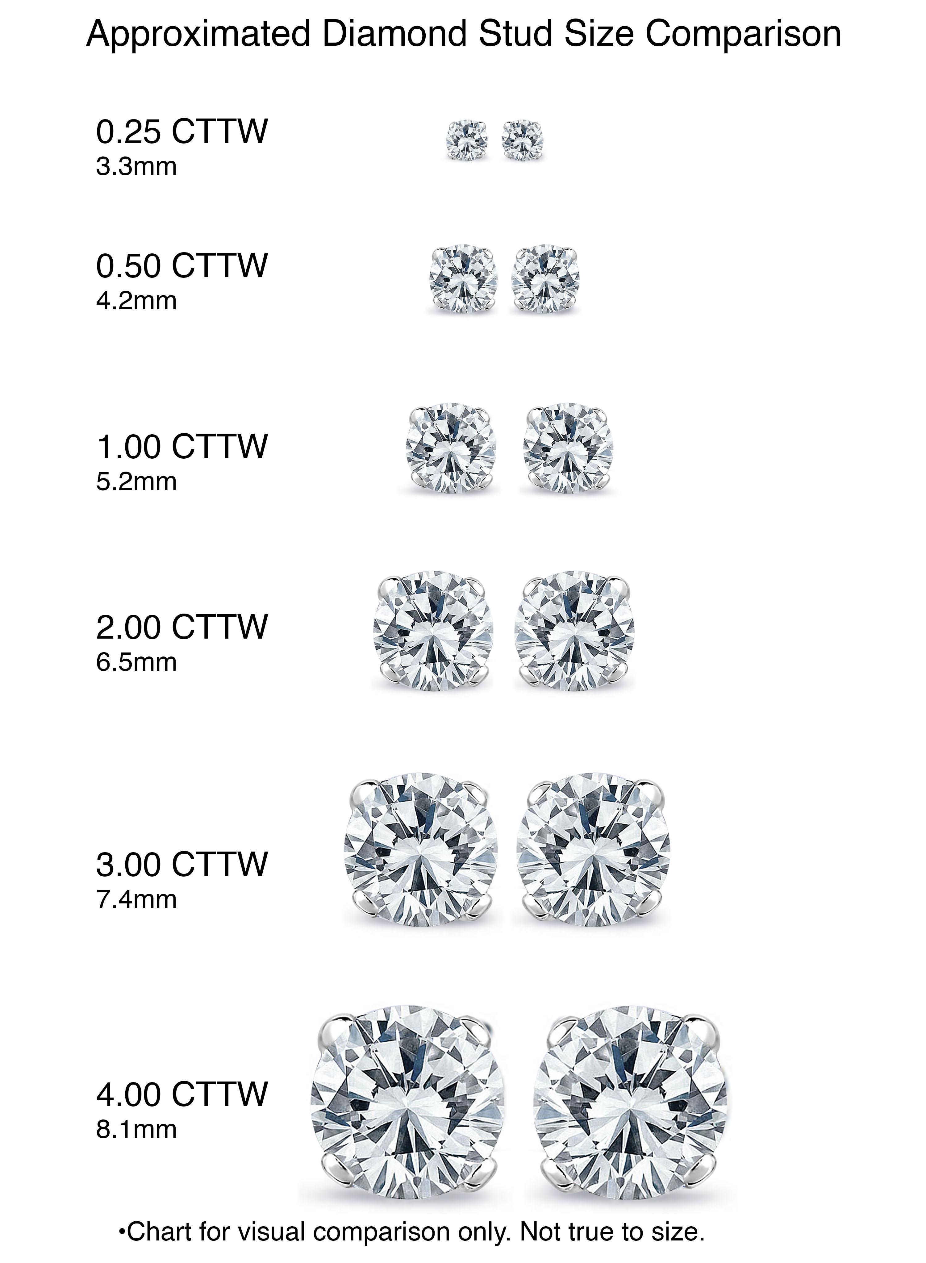 Diamond Stud Earrings Size