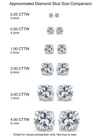 Diamond Stud Earrings Size