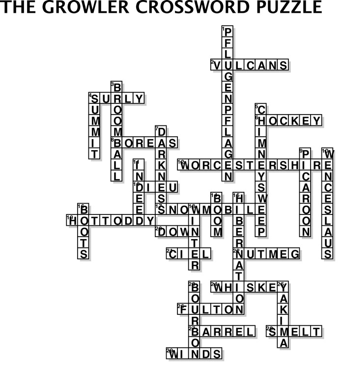 Issue 10 Crossword Puzzle Answer Key