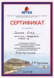 сертификат Слинка
