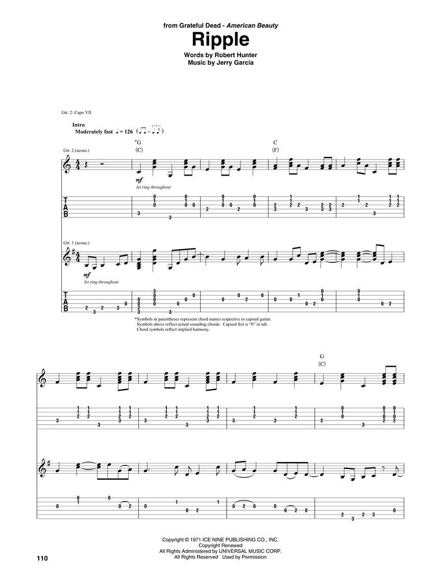 Blackbird Guitar Notation