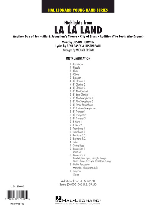La La Land, Highlights From Sheet Music by Michael Brown