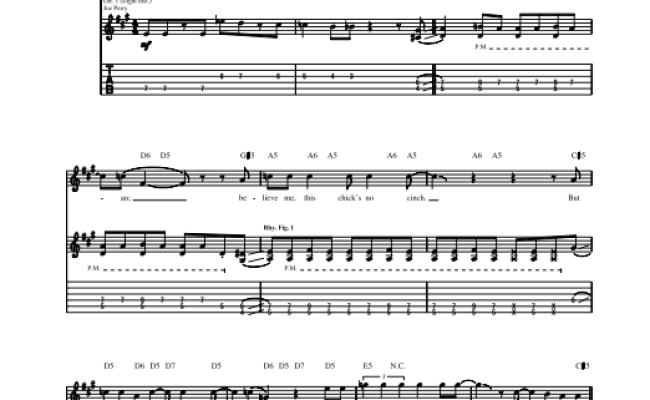 Big Ten Inch Record By Aerosmith Guitar Tab Guitar