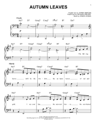 Autumn Leaves   Sheet Music Direct