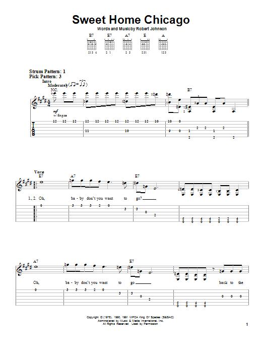 Foghat chords, tabs, guitarpro, powertab files. Sweet Home Chicago By Robert Johnson Easy Guitar Tab Guitar Instructor